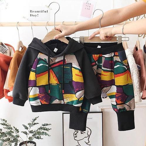 Colorful sweatsuit