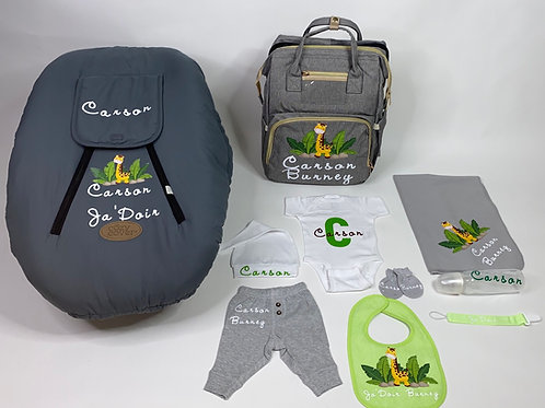 Personalized Baby Set with Car Seat Cover
