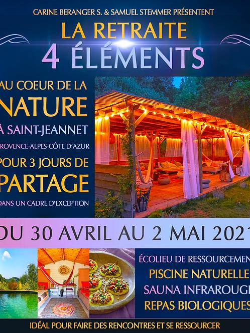 RETRAITE 4 ELEMENTS - 30 Avril au 2 Mai 2021 - Nice