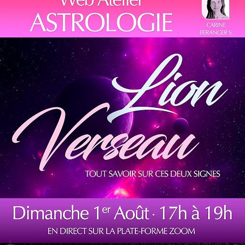 • ASTRO - Lion/Verseau • Dimanche 1er Août 17h-19h