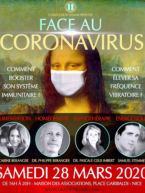 Colloque ''FACE AU CORONAVIRUS'' • 28 Mars 2020 • Nice