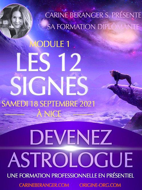 • Formation d'Astrologie - Module : Les 12 Signes • 18 SEPTEMBRE 2021 • 10h/18h