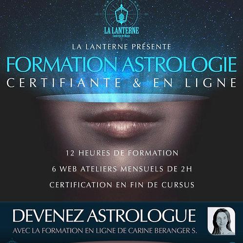 WEB FORMATION Certifiante • ASTROLOGIE • L'essentiel •