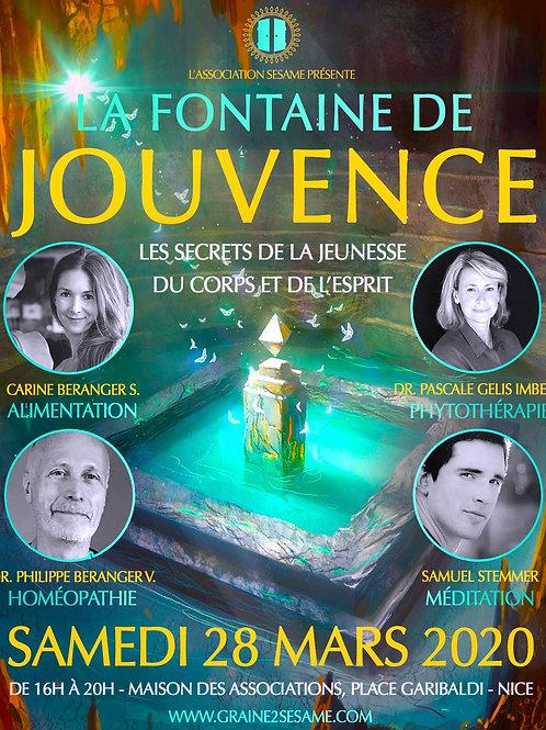 Colloque ''La Fontaine de Jouvence'' • 28 Mars 2020 • Nice