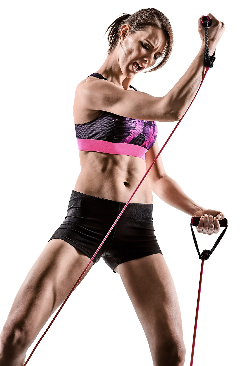 Seven  bands with different weights for intense exercise