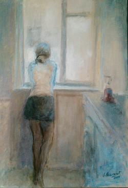 Anaïs à la fenêtre