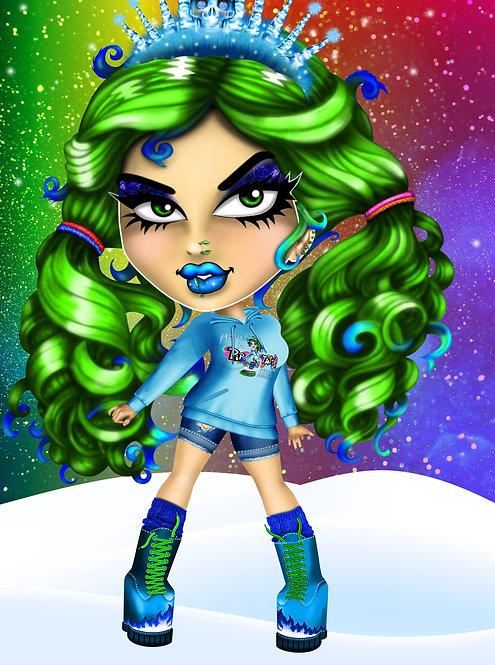 Pip Xmas Hoodie Ice Queen Design