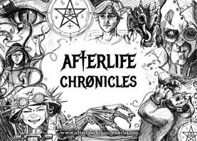 Afterlife Chronicals A6 Postcard Design