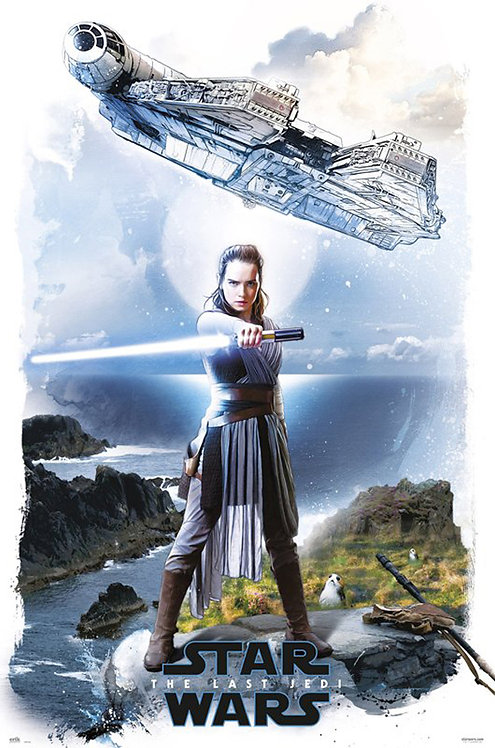 Rey with Falcon