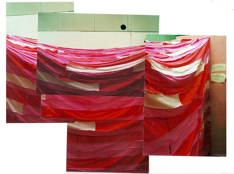 Roze - een installatie die ik in 1998 maakte. Buitenkant.