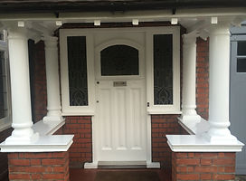 Loughton door painted exterior