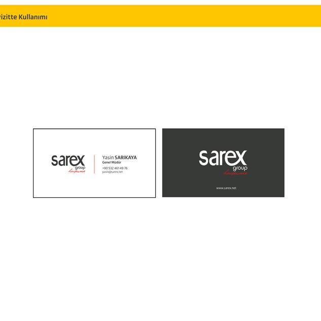 Sarex Kartvizit Tasarımı 2020