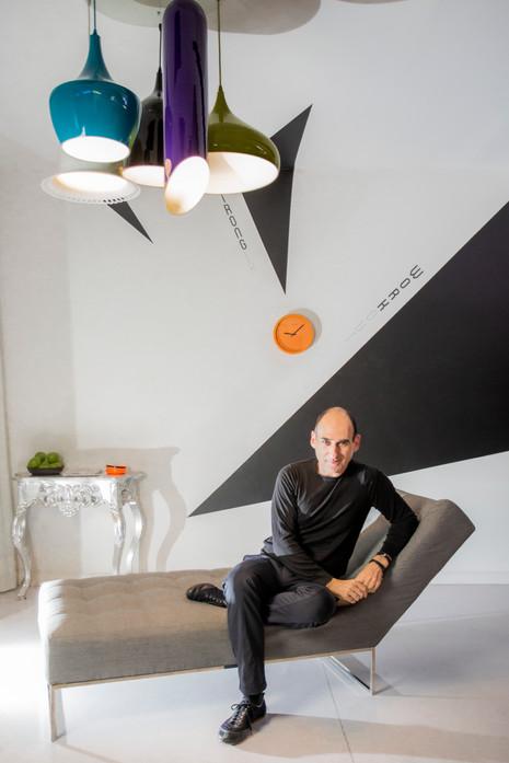 Amir Slama, fashion stylist.