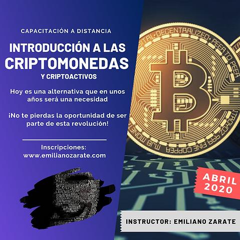 Emiliano Zarate Criptomonedas 2020
