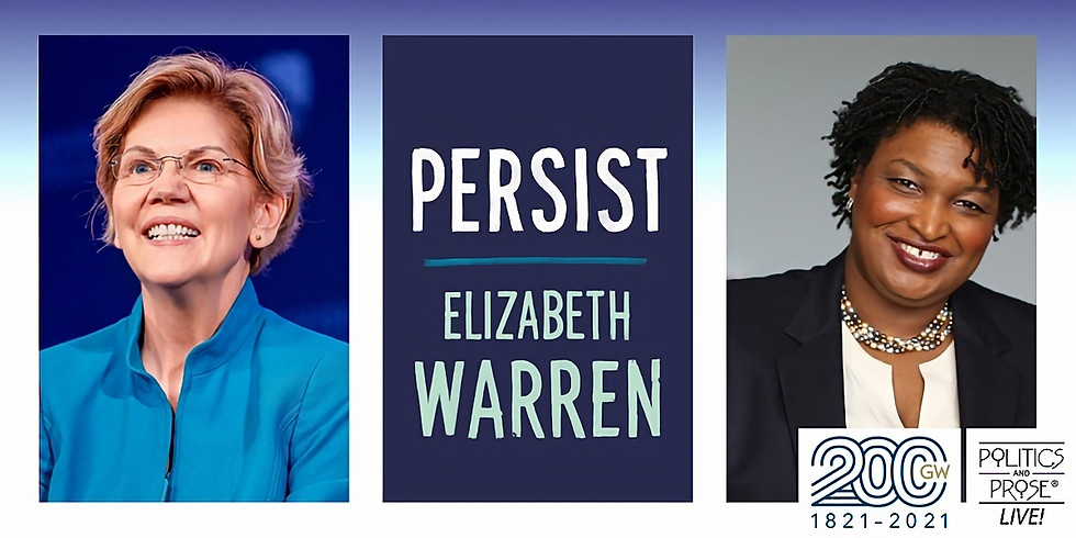 P&P Live! Elizabeth Warren   PERSIST with Stacey Abrams