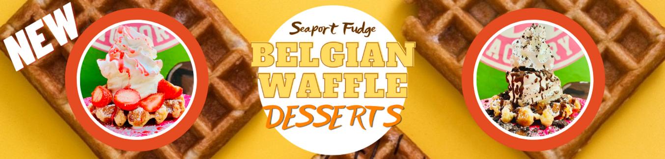 New Belgian Dessert Waffles