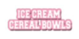 Ice Cream Cereal Bowl Logo Text