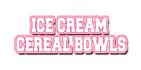 Ice Cream Cereal Bowl Logo Text