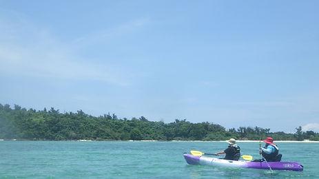 石垣島の海でカヤック
