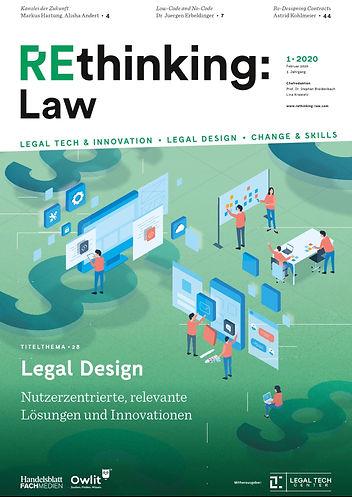 Rethinking Law Magazin Cover