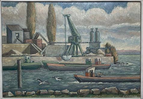 Dragage dans le lac de Neuchâtel