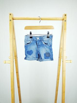 H&M denim shorts 12-18 months