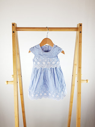 George blue embroidered dress 0-3 months