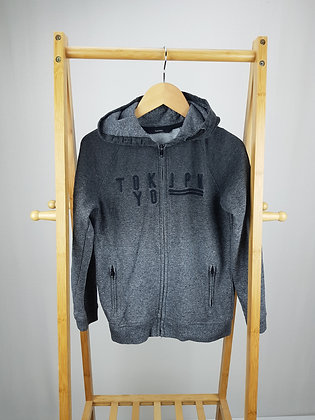 George Tokyo grey zipped hoodie 9-10 years
