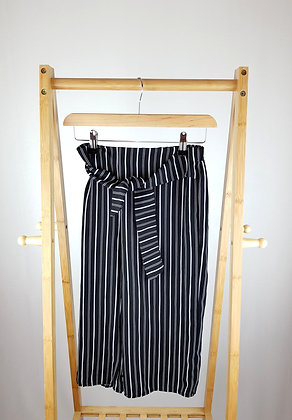 Primark wide striped capri trousers 10-11 years