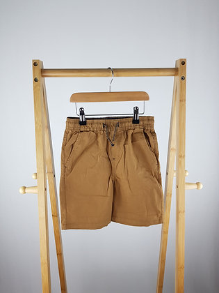 Denim Co brown pull on shorts 8-9 years