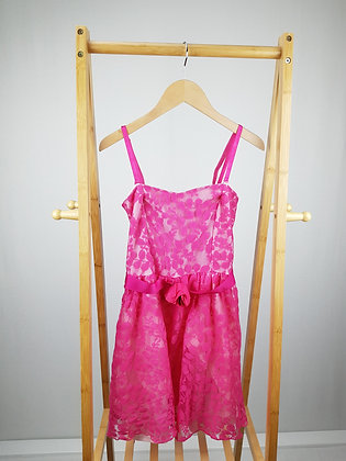 Charm pink lace dress with belt 13 years