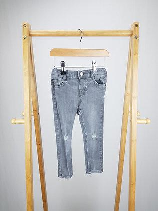 H&M grey denim jeans 18-24 months