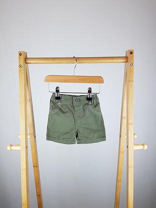 George khaki shorts 0-3 months