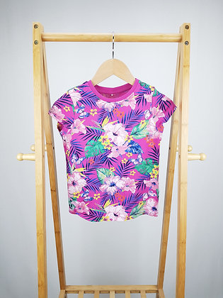 George tropical flowers t-shirt 7-8 years
