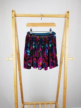 Next abstract floral velvet skirt 4-5 years