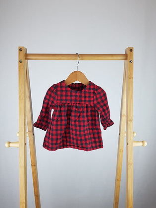 TU checked blouse 0-3 months