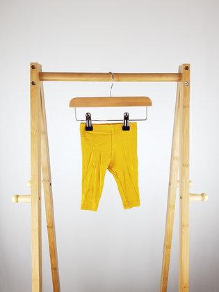 F&F ribbed mustard leggings 3-6 months