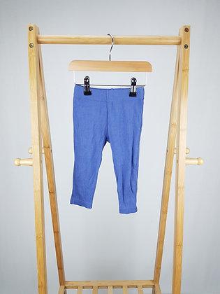 Blue leggings 12-18 months
