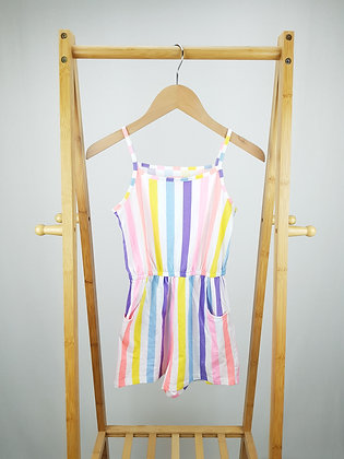 F&F multi striped playsuit 8-9 years