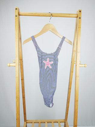 B con B striped swimsuit 11-12 years