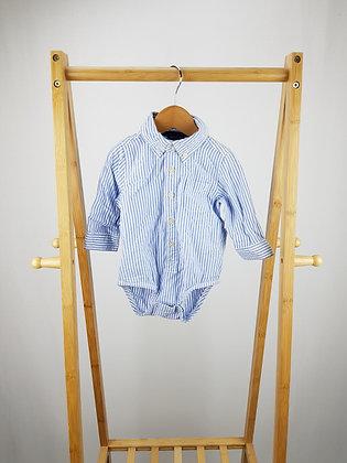 Osh Kosh striped shirt bodysuit 9-12 months