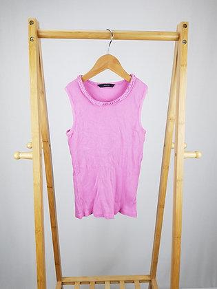 George pink ribbed vest top 9-10 years