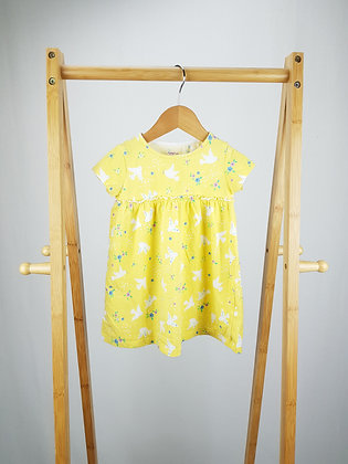 F&F yellow dove dress 12-18 months