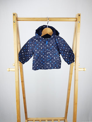 Early days star print light coat 0-3 months
