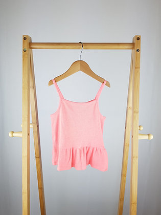 F&F neon pink crop top 8-9 years