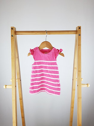 F&F pink striped dress up to 1 month