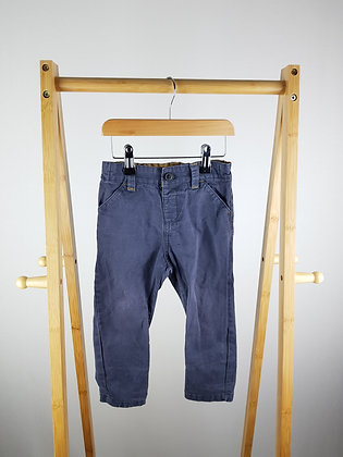 Nutmeg washed blue trousers 18-24 months