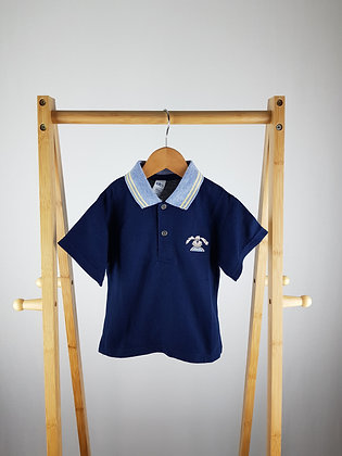 BHS navy polo shirt 18-24 months