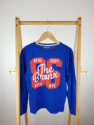 Rebel blue long sleeve top 10-11 years