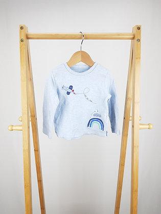 F&F blue long sleeve top 12-18 months